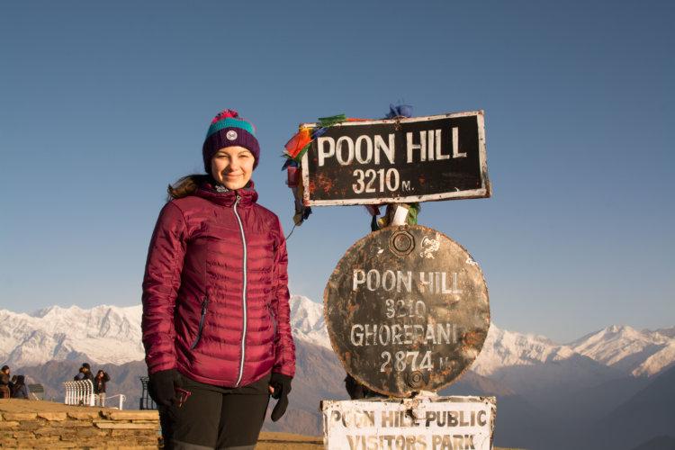 katka cestuje nepal poon hill